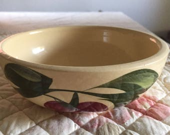WATT Pottery 3 Leaf Apple Salad Bowl #74