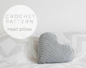 Crochet Pattern | Heart Pillow,Imediate Downloadable Pattern