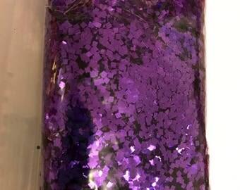 Grape Purple SQUARE cut Metallic .062 (1/40) glitter over 1 oz