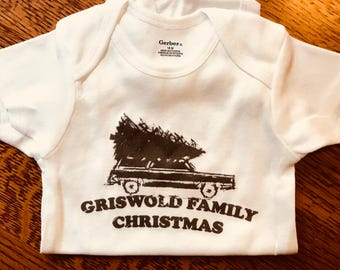 Funny holiday Christmas onesie: Griswold Family Christmas