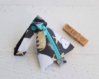 Baby Boy Pacifier Pouch | Pacifier Holder Bag | Pacifier Case | Key Pouch | Triangle Bag | Mini Coin Purse | Earphone Case | Pacifier Bag