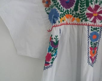Vintage cotton Mexican dress