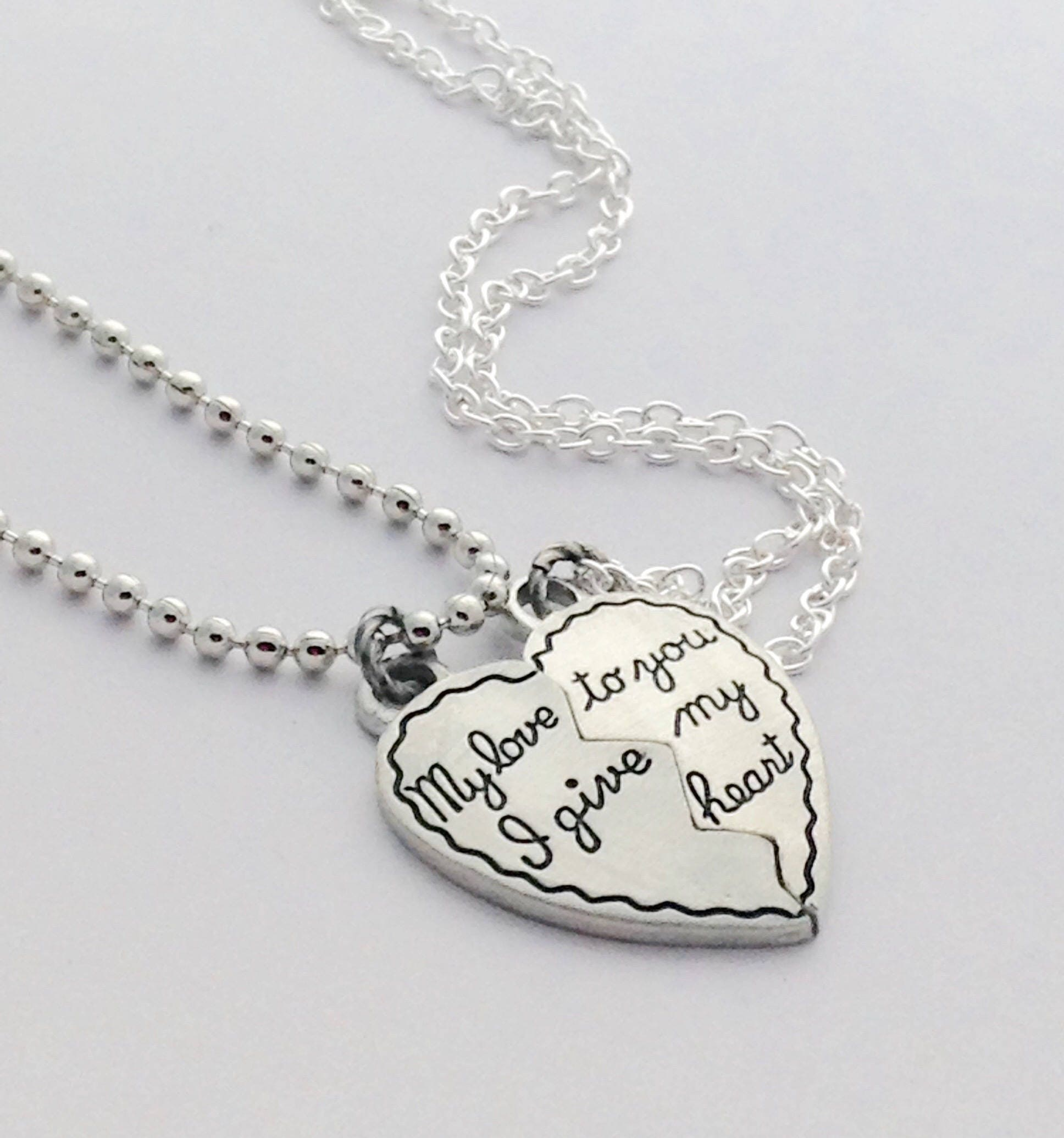 Couples Necklaces Gift For Boyfriend Girlfriend Gifts Half