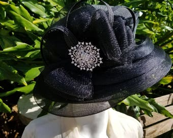 Black church hat
