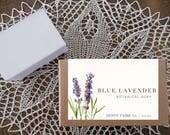 blue lavender soap | refreshing blue eucalyptus & french lavender soap | 4 oz botanical bath bar
