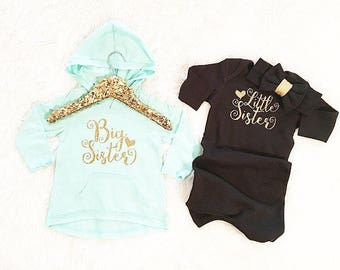 Big Sister Little Sister set (shirt and bodysuit only/headbands separate) coming home outfits