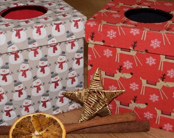 Christmas Limited Edition Print Reusable and Refillable Ladies Tissue Hanky Boxes