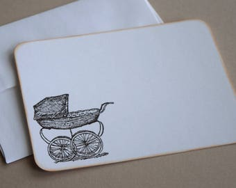 Baby Thank You Cards / Flat Note Cards - Set of 10