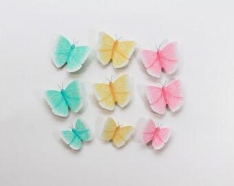 Mur 3d en papier papillon sticker 3d papier papillon for Decoration murale papillon 3d