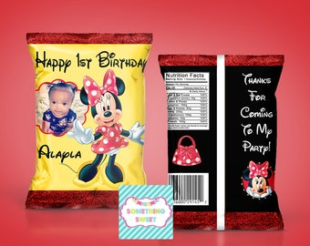 Girl Mouse Themed Chip Bag Treat Bag  - YOU ASSEMBLE(READ before ordering)