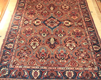 Antique Persian Rug 4x6 Vintage Veramin/Varamin  Handknotted Rug Rare Brown Field. Quality Wool. Exquisite Collectible. ~Gypsy Rugs (C6)
