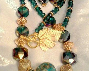 Color Change Jewelry, Aqua Blue Green, Jewelry Changes Colors, Aurora Borealis Beads, Turquoise Colored Jewelry, Aqua Jewelry Sets, Boho