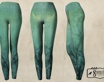 Teal Dusk Leggings Yoga Leggings