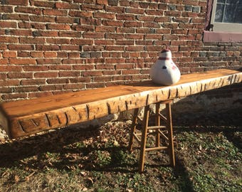 1800's Log Cabin beam, Hand finished for a Fireplace mantle.