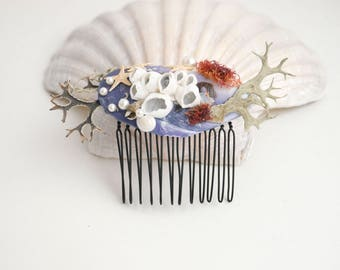 Sea shells hair comb Beach wedding Beach hair accessory Seashell Hair accessories Mermaid hair comb Seashell bridal hair comb Headpiece