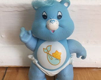 Vintage 1980s PVC Plastic Poseable Care Bear Baby Hugs Tugs Figure Doll!