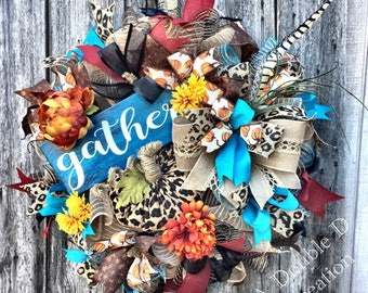 Fall Wreath, Fall Decor, Autumn Wreath, Autumn Decor, Fall Door, Thanksgiving Wreath, Thanksgiving Decor, Autumn Door, Thanksgiving Door