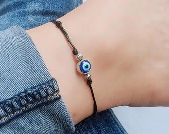 Evil Eye Bracelets/Anklets, Evil Eye Bracelets, Evil Eye Anklets, Adjustable Cord Bracelet, Adjustable Cord Anklet, Evil Eye Bead