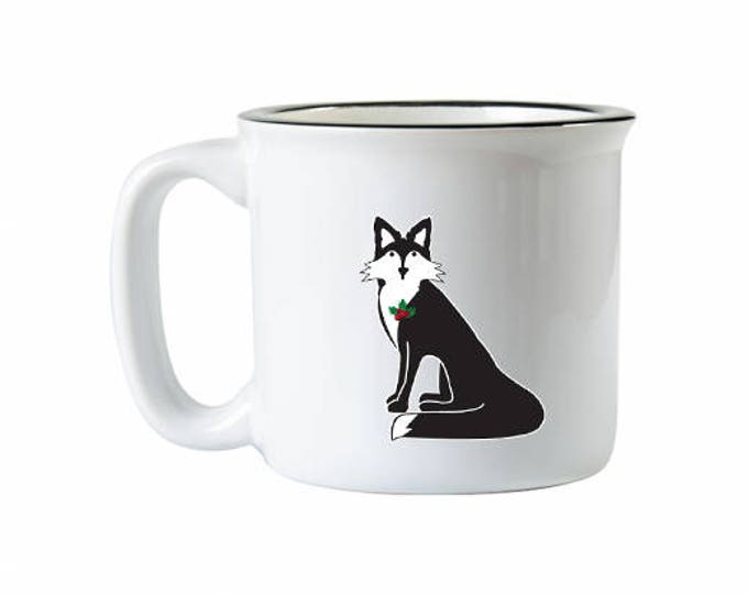 Holiday Fox Campfire Mug