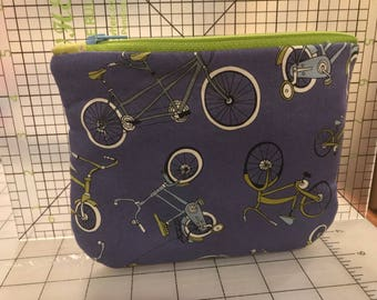 Bicycle Zippered small purse