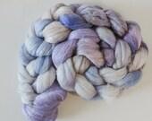 Corriedale,Rosefiber,Grey Dusk, top, handpainted fiber for spinning, 120g
