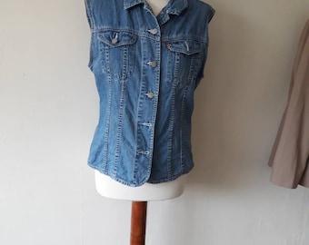 Vintage Denim Waistcoat Size 12