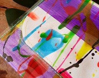 Neon Fall #2 Small Art Clutch Purse OOAK