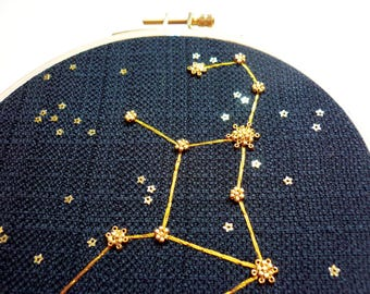 "Embroidered ""Virgo"""