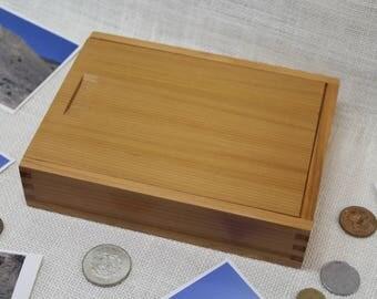 Wood Photo Box, Photo Box 5 x 7, Sliding Top Box, Sliding Lid Box, Sliding Lid Photo Box, Sliding Top Photo Box, Wooden Photo Box,(st51122L)