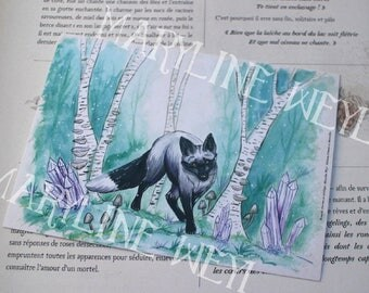 map postcard Fox forest