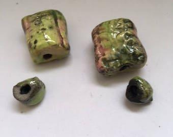 raku for earrings beads