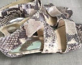 Michael Kors python print gladiator sandals size 9