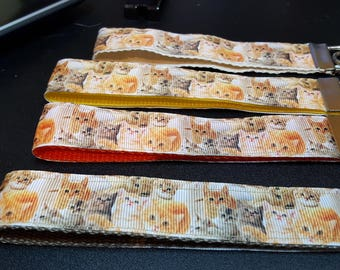 key fob, wristlet, keychain, lanyard - lots and lots of cats - M2336K