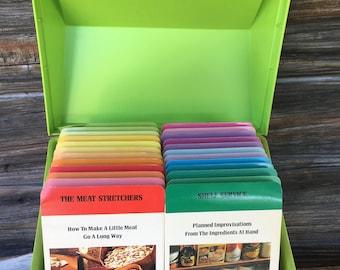 Betty Crocker,  Vintage, Recipe Box, Vintage Kitchen, Green, 1970's, Kitchen Accessories, Cooking Aide