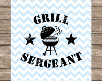 Grill Sergeant, Grill svg, Grilling svg, Grill, summer svg, barbecue, Barbecue svg, bbq svg, bbq, Fathers Day svg, svg files Fathers Day svg