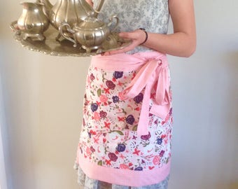 Hostess Apron, Cafe Apron, Half Apron