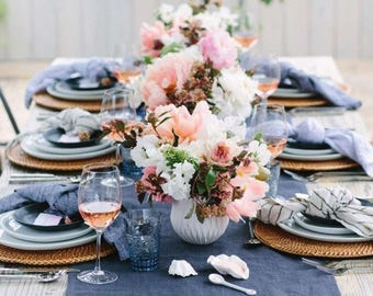 Jean Wedding Runner - Runner - Denim Runner - Table Runner - Blue Jean Runner - Wedding Table Decor - Choose Length