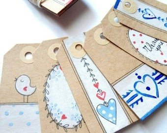 greeting cards, tags, Christmas presents packaging set
