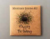 Happy Birthday Mystery Seeds, flower and seed gift and present