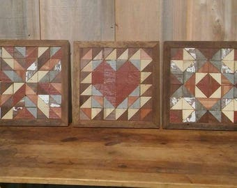 barn quilt block, salvaged wood wall art, salvaged barns boards