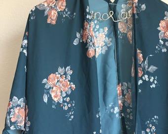 Navy Vintage Floral Kimono