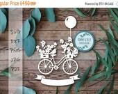 30% OFF Vintage Bike x 2 SVG PDF Dxf Png Jpg Design - Papercutting Vinyl Template bicycle papercut - floral papercut - vintage Svg - Flower