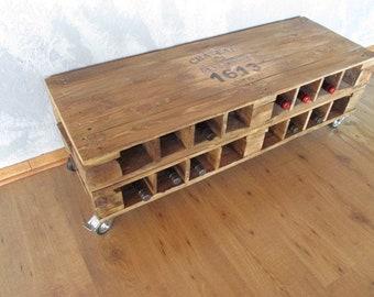 Palettentisch * Wine Rack * Lowboard * Palettenmöbel in loft design * *