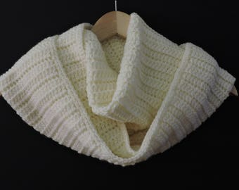 Infinity Scarf, Snood , Cowl in Cream
