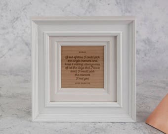 Personalied 'Moment I Met You' Frame, White Painted Frame with Engraved Insert, Romantic Frame (OHSO895)