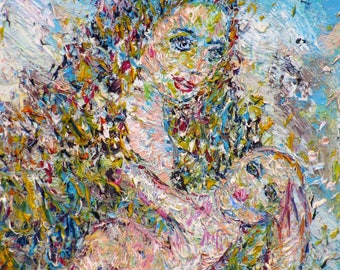 MATERNITY - original oil painting - one of a kind!