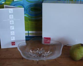 "Holmegaard Denmark Allan Scarf Glassworks ""Fruits de Mer"" bowl ""Octupus"""