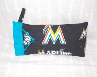 MLB - Miami Marlins - Reading Glasses Case - Quilted Fully Lined