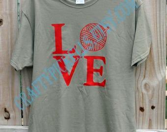 Love Crochet Vinyl T-shirt
