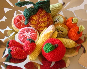 dinette de fruits au crochet fait à la main
